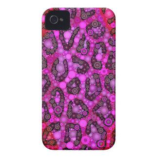 Lila rosa blauer Cheetah Case-Mate iPhone 4 Hülle