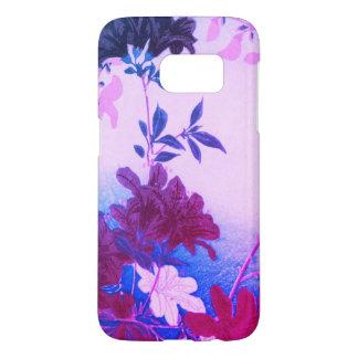 Lila rosa blauer Frühlings-Blume Telefon-Kasten