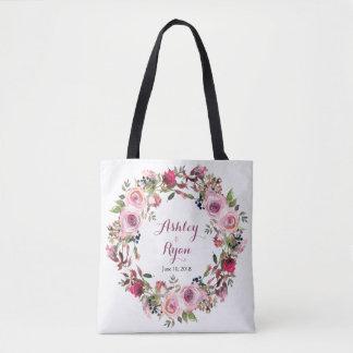 Lila rosa Chic-Rosen-Blumenhochzeits-Tasche Tasche