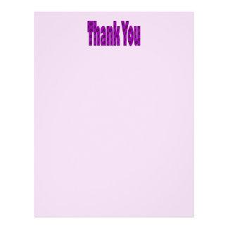 lila Rosa danken Ihnen Flyer Druck