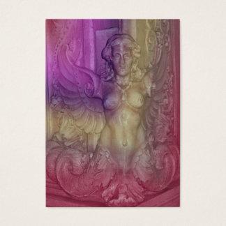 lila rosa Engels-ATC aceo Visitenkarte