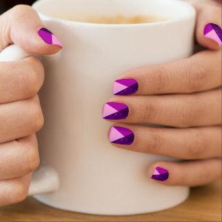 Lila rosa geometrische Trendy Nagel-Kunst Minx Nagelkunst