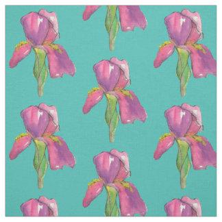 Lila rosa Iris-Türkis Stoff