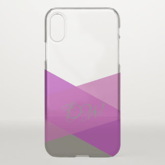 Lila rosa und grünes personalisiertes iPhone x hülle