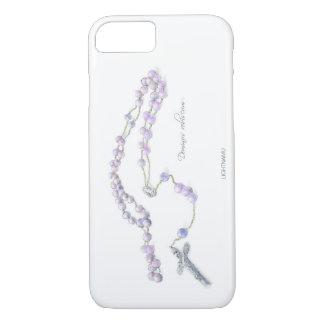 Lila Rosenbeettelefonkastentaufe-Hochzeitsgeschenk iPhone 8/7 Hülle