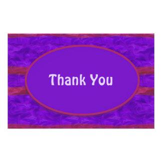 Lila Rot danken Ihnen Vollfarbige Flyer