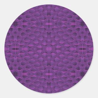Lila Ruhm Snakeskin inspiriertes Muster Runder Aufkleber