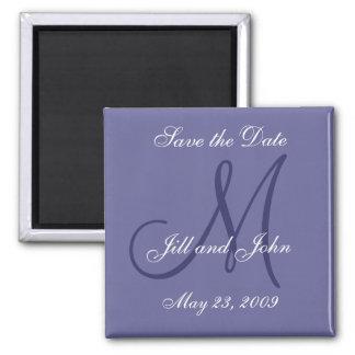 Lila Save the Date Magneten für Hochzeiten Quadratischer Magnet