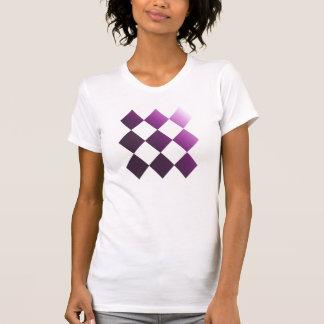 Lila Schachbrett T-Shirt
