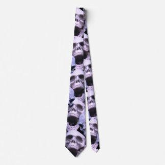 Lila Schädel Krawatte