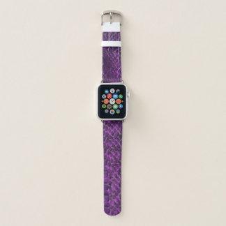 Lila Schlangen-Haut-Blick-Apple-Uhrenarmband Apple Watch Armband