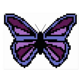 Lila Schmetterling des Querstiches Postkarte