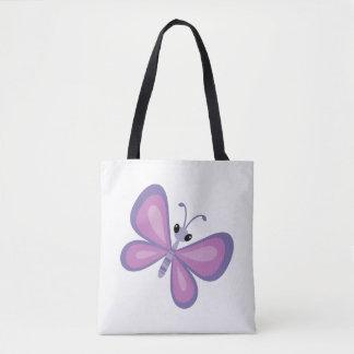 Lila Schmetterling Tasche