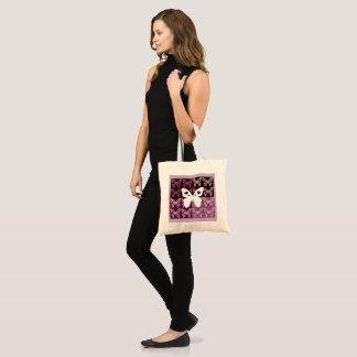 Lila Schmetterlings-Budget-Tasche Tragetasche