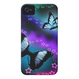 Lila Schmetterlings-Genese Case-Mate iPhone 4 Hülle