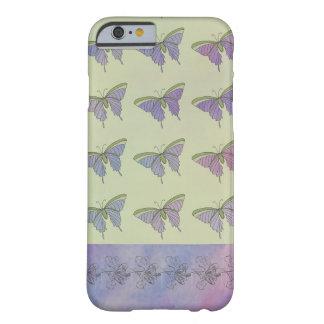 Lila Schmetterlings-Girly hübscher stilvoller Spaß Barely There iPhone 6 Hülle