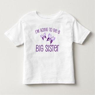 Lila Schmetterlings-große Schwester zum zu sein Kleinkind T-shirt