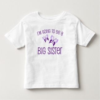 Lila Schmetterlings-große Schwester zum zu sein Shirt