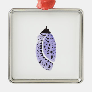 Lila Schmetterlings-Kokon Silbernes Ornament