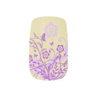 Lila Schmetterlings-Strudel Minx Nagelkunst