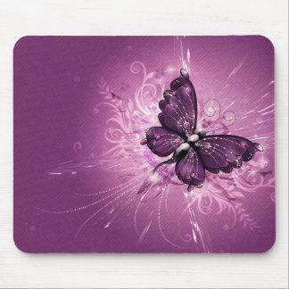 lila Schmetterlingsvektorkunst Mauspads
