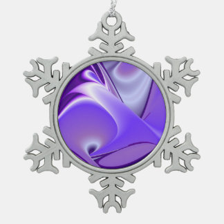 Lila Schnee-Blume Traum Schneeflocken Zinn-Ornament