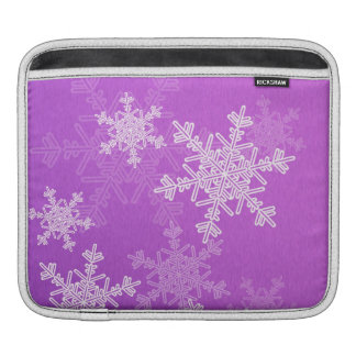 Lila Schneeflocke-WeihnachteniPad Hülse iPad Sleeve