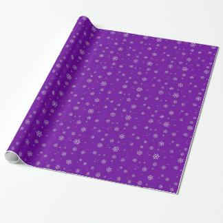 Lila Schneeflocke-Weihnachtsgeschenk-Verpackung Geschenkpapier