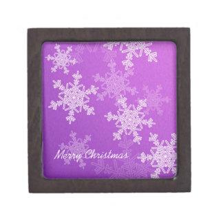 Lila Schneeflocke-WeihnachtsGeschenkboxen Schachtel
