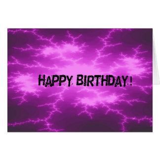 Lila Schock-abstrakter Geburtstag Karte