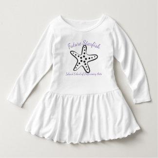 Lila Schreiben der zukünftigen Starfish Kleid