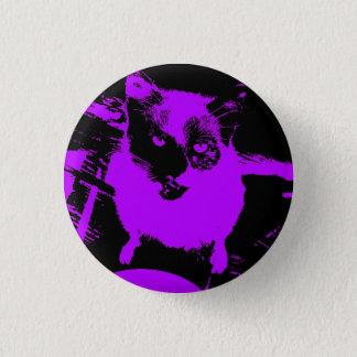 Lila/schwarze Katzen-kleiner runder Knopf Runder Button 2,5 Cm