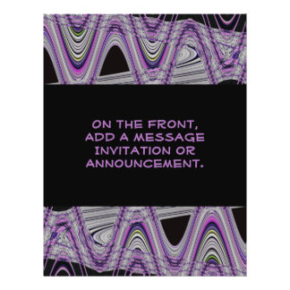 lila schwarzes abstraktes personalisierte flyer