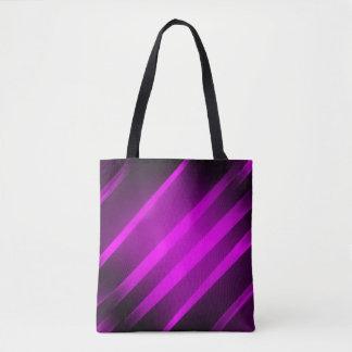 lila - schwarzes pinkfarbenes Feuer ganz vorbei - Tasche