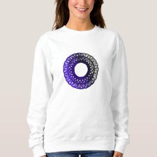 lila-schwarzes torpam Frau-Sweatshirt Sweatshirt