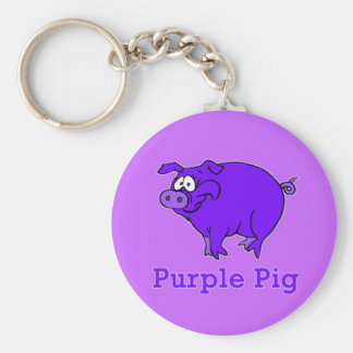 Lila Schwein auf Kleid, Tassen, Baby-Shirts Schlüsselanhänger