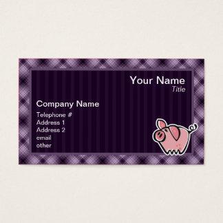 Lila Schwein Visitenkarte