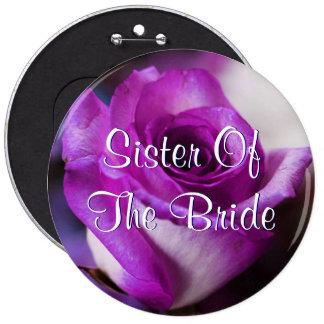 Lila Schwester der Braut-Rose Runder Button 15,3 Cm