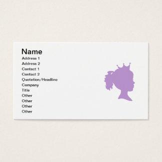 Lila Silhouette-Prinzessin T-shirts und Geschenke Visitenkarte