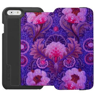Lila Silk Stickerei Incipio Watson™ iPhone 6 Geldbörsen Hülle