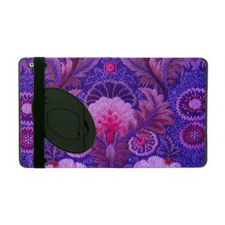 Lila Silk Stickerei iPad Etui