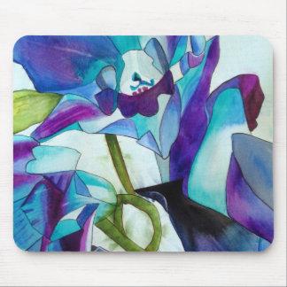Lila Singapur-Orchideen-Blume Watercolorkunst Mousepad