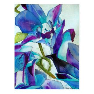 Lila Singapur-Orchideen-Blume Watercolorkunst