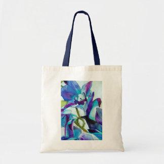 Lila Singapur-Orchideen-Blume Watercolorkunst Tragetasche