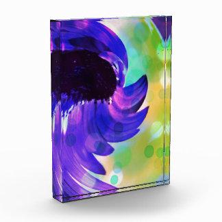 Lila Sonnenblume-Strudel-Kunst im Acryl Auszeichnung