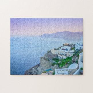 Lila Sonnenuntergang-Puzzlespiel Puzzle