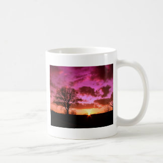 Lila Sonnenuntergang Tasse