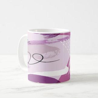 Lila Splotches-abstrakte Kaffee-Tasse Kaffeetasse