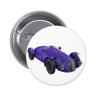 Lila Sport-Auto Runder Button 5,7 Cm
