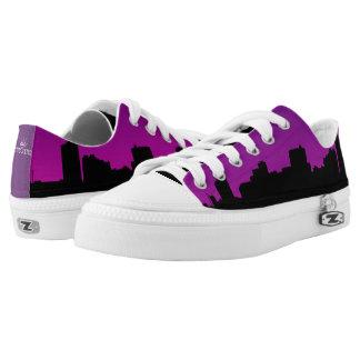Lila Stadt-Himmel-Linie Niedrig-geschnittene Sneaker
